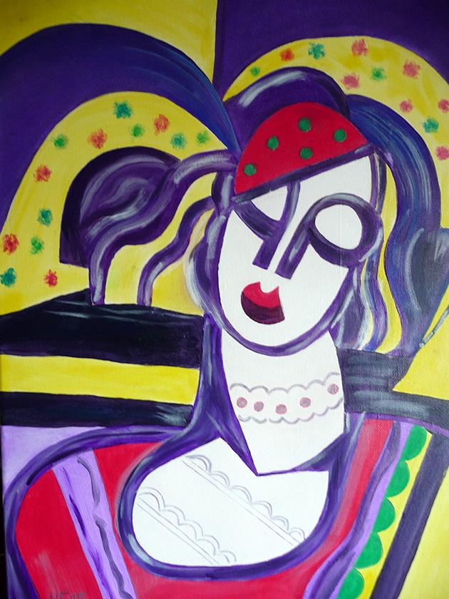 Abstrakte Frau